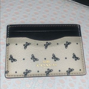 Brand New Coach PVC Butterfly Dot Card Case